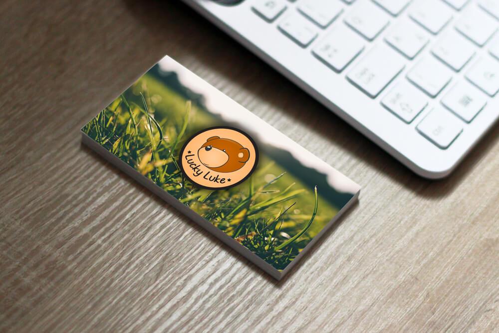 Business Card Lucky Luke small